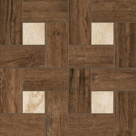 Напольная плитка Italon Natural Life Wood 45x45, Pepper Inserto Glamour