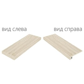 Плитка для ступеней Italon Natural Life Wood 90x33, Nordic Угловая левая