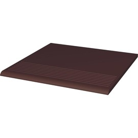 Плитка для ступеней Paradyz Natural 30x30, Brown Duro, структура